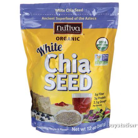 Nutiva 有機白奇異籽 (鼠尾草籽) 12 oz