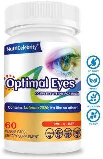 Nutricelebrity, 最佳眼睛 (完美眼睛配方) 60 素食膠囊