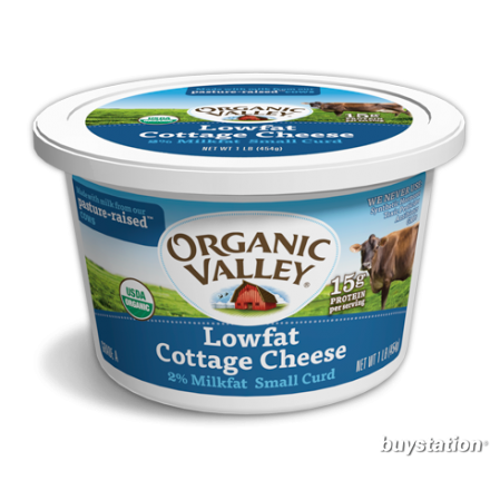 Budwig 7+1 : 7 x Organic Valley Lowfat Cottage Cheese 16 oz