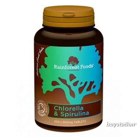 Rainforest Foods, 有機綠藻螺旋藻 500 mg, 300粒