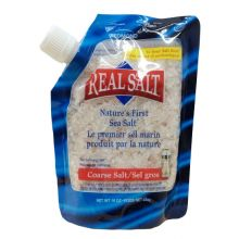 Real Salt, Nature's First Sea Salt, Coarse Grind, 16 oz