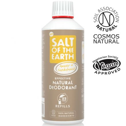 Salt of the Earth, 琥珀檀香天然止汗噴霧補充裝 500ml