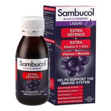 Sambucol Black Elderberry Extra Defence Liquid (Vitamins + Minerals) 120ml