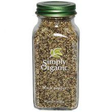 Simply Organic, 有机黑胡椒,中等研磨, 2.31 oz (65 g)