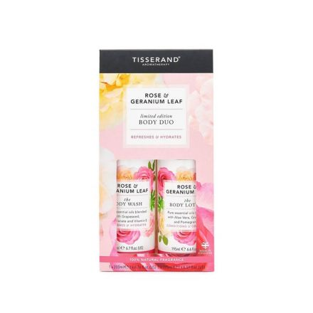 Tisserand Aromatherapy, 玫瑰+天竺葵身體護理二重奏