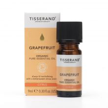 Tisserand Aromatherapy, Grapefruit Organic Pure Essential Oil, 9ml