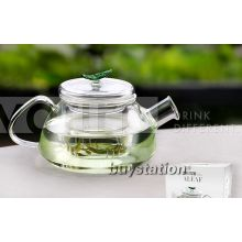 Vatiri Aleaf handmade glass teapot with infuser