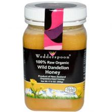 Wedderspoon Organic, 100% Raw Organic Wild Dandelion Honey, 17.6 oz (500 g)