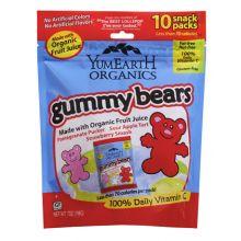 Yummy Earth, 有机软糖熊 10包 x 25g