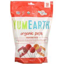 Yummy Earth, 有機棒棒糖,雜果味,10.9 oz (310g)