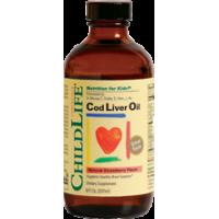 ChildLife 鱈魚肝油, 草莓味 8 Fl.Oz. (237ml)