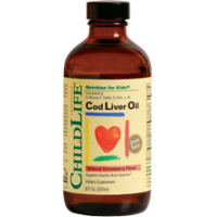 ChildLife 童年时光 鳕鱼肝油, 草莓味 8 Fl.Oz. (237ml)