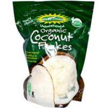 Edward & Sons, Organic Coconut Flakes, Unsweetened, 7 oz (200 g)