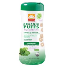 Happy Baby Organic Greens Puffs 60g (2.1 oz)