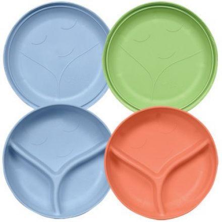 iplay 綠芽系列 - 盤和碗套裝 (2隻) - 男孩