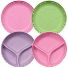 iplay 綠芽系列 - 盤和碗套裝 (2隻) - 女孩