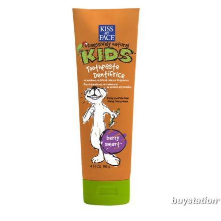 KISS MY FACE 全天然兒童無氟牙膏 - 莓果味 4 oz