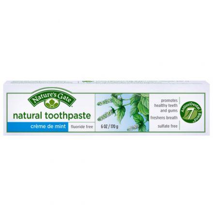 Nature's Gate, Natural Toothpaste, Crème de Mint, Fluoride-Free, 6 oz (170 g)